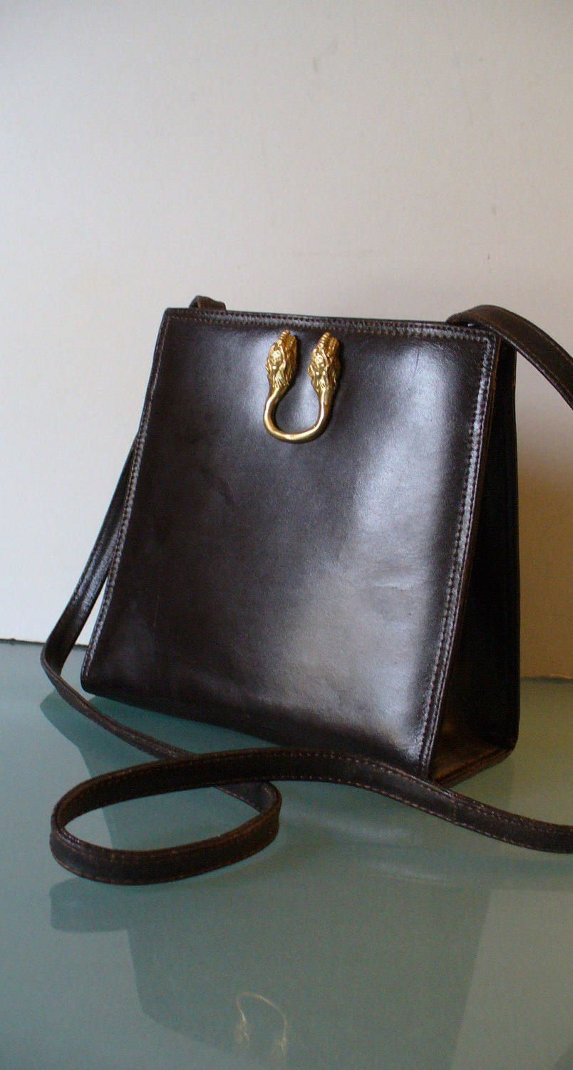 Antonio Scepi Made In Italy Chocolate Kid Skin Crossbody Purse By Eurotraaly On Etsy