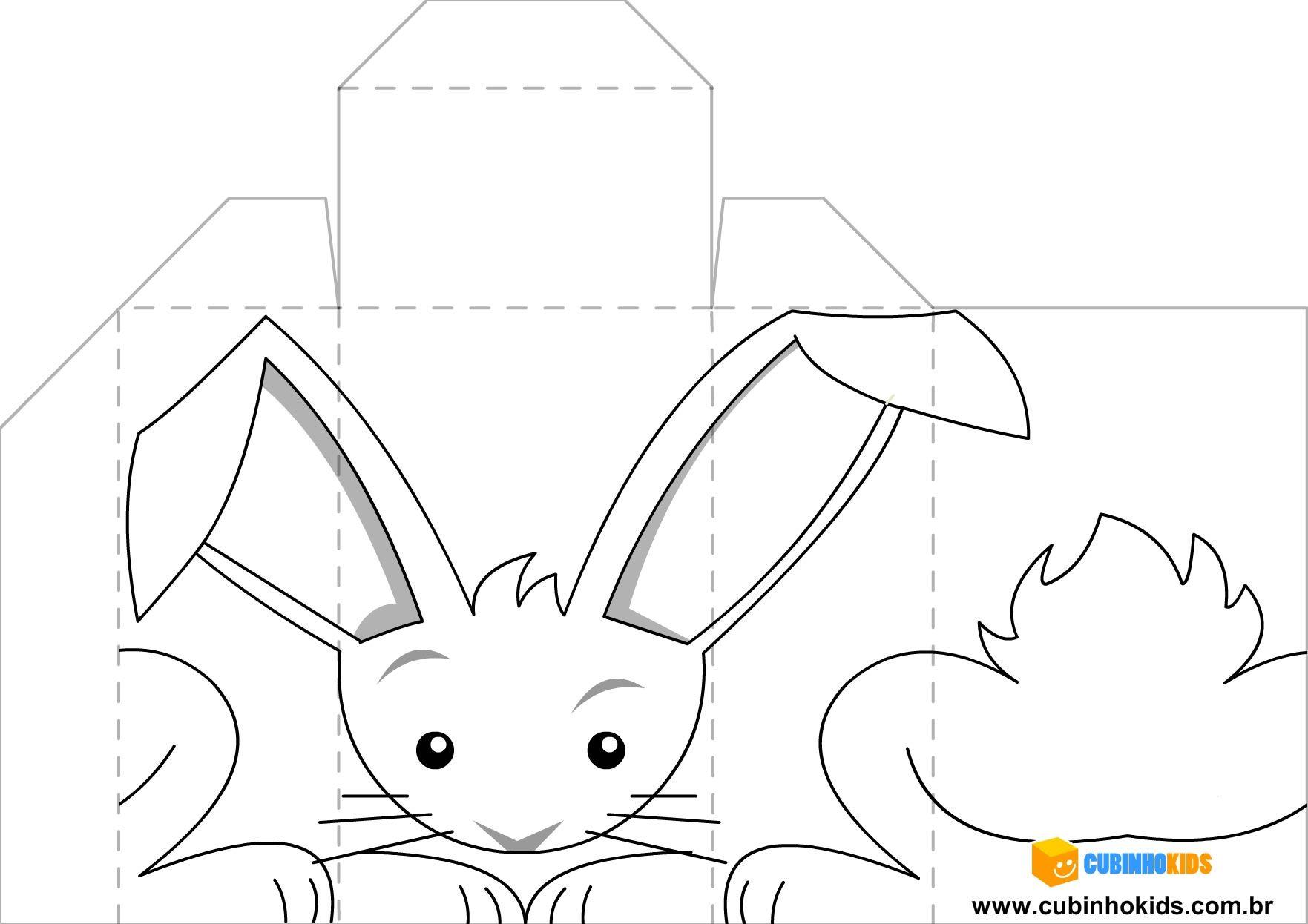Coelhinho da Páscoa para pintar e colorir < Animais < CubinhoKids ...