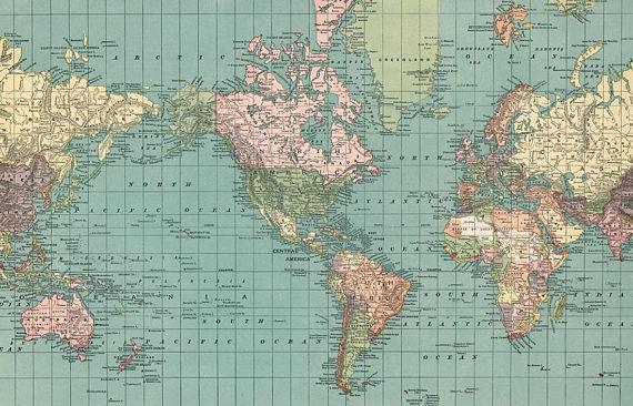 World map printable digital download 1892 vintage world map maps world map printable digital download 1892 vintage world map gumiabroncs Image collections