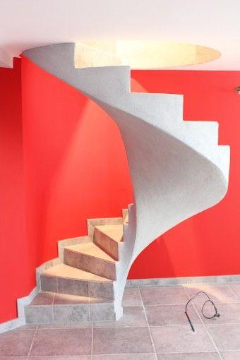 escalier b ton en colima on dans le vide escalier b ton. Black Bedroom Furniture Sets. Home Design Ideas