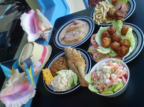 Assortment Of Bahamian Food And Desserts Bahamian Food Food Bahamas Food