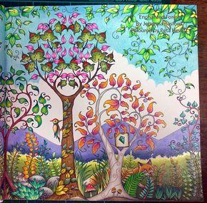 DayForest07 Coloured By Peta Hewitt From Johanna Basfords Enchanted Forest