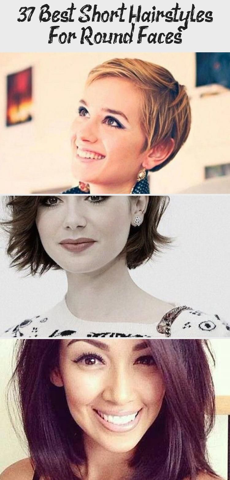 37 Best Short Hairstyles For Round Faces - Hair Styles -  Best Short Hairstyles For Round Faces #shorthairstylesFine #shorthairstylesMom #shorthairstylesTumb - #diyhairstyles #faces #hair #hairstyleideas #hairstyles #hairstylesfemme #hairstylesformediumlengthhair #hairstylesforroundfaces #round #short #styles