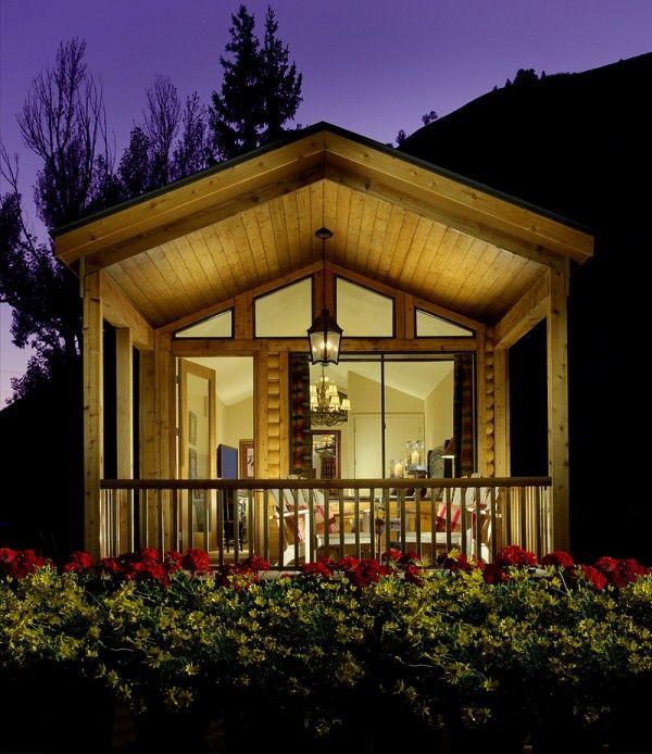 Cavco Cabin Avec Images Jardin Maison Petit Mouvement Maison Maison