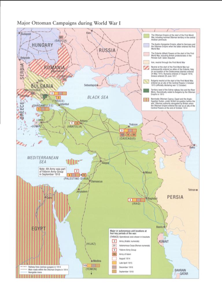 Gran Guerra Otomanos @GranGuerraTURQ  ·  11 de oct. de 2012 Principales Campañas Militares Otomanas durante la Primera Guerra Mundial