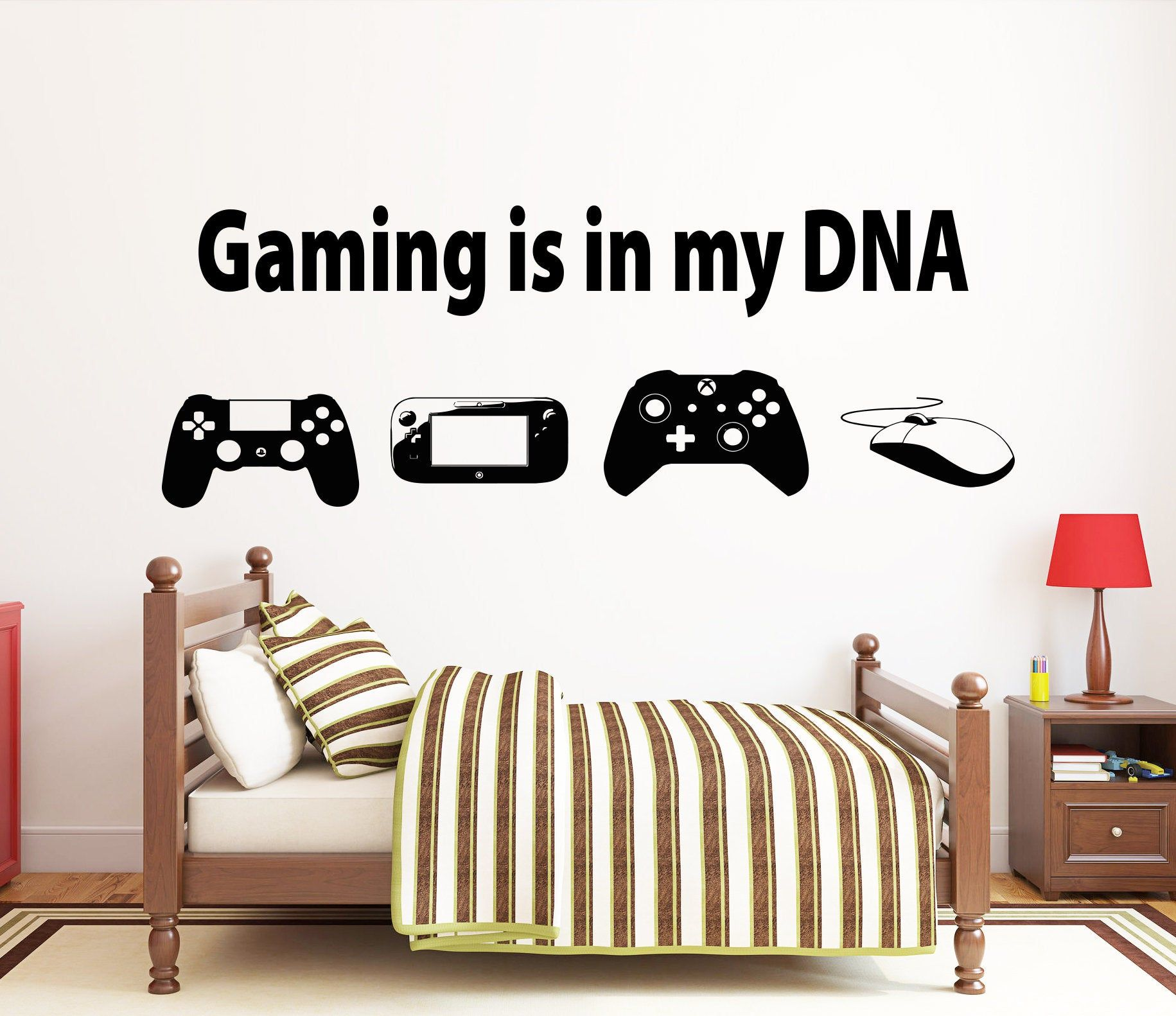 Gamer Wall Decal Video Games Wall Sticker Controller Wall Etsy Wall Decals Room Wall Art Game Room