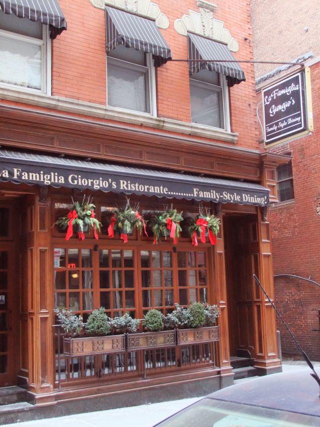La Famiglia Giorgio S Ristorante Boston Italian Restaurant