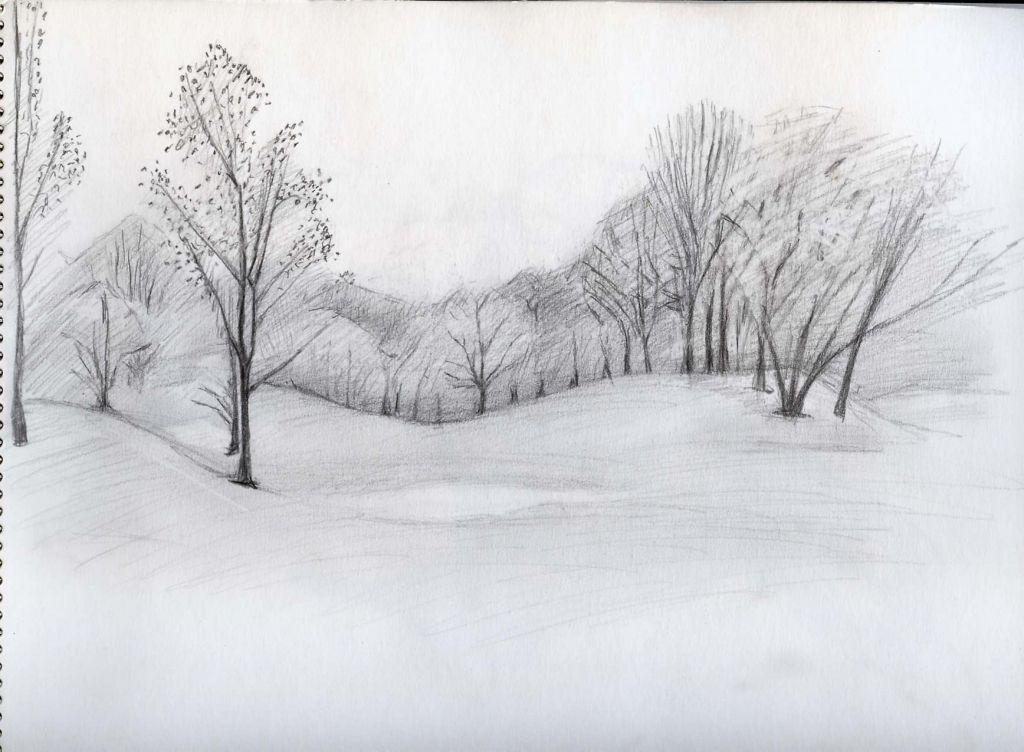 Easy Landscape Drawings Wendy Siegelman Drawings Paintings ...