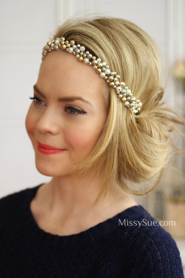 Tuck And Cover Great Gatsby Style Gatsby Hair Great Gatsby Hairstyles Updo With Headband