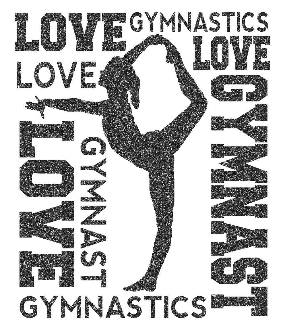 Gymnast Word Cloud Transfer by GirlsLoveGlitter on Etsy