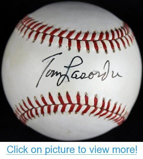 DODGERS TOM LASORDA SIGNED AUTHENTIC OML BASEBALL JSA #F97990