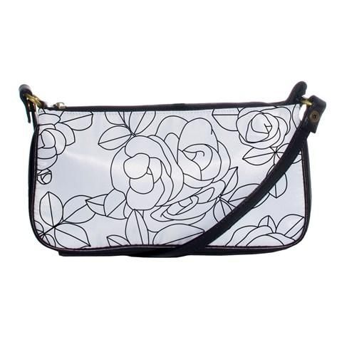 Stained Glass Roses - Shoulder Clutch - One Size