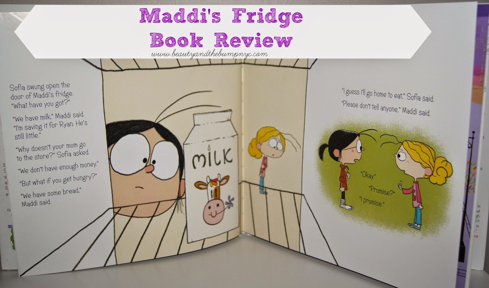 Beauty and the Bump: Maddi's Fridge by Lois Brandt Book Review #ChildHunger #Poverty @MaddisFridge