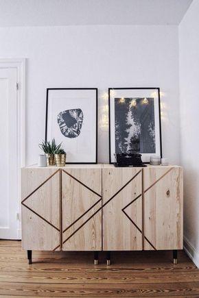 Pinterest 20 Belles Facons De Pimper Des Meubles Ikea Glamour Meubles Ikea Relooking Meuble Mobilier De Salon