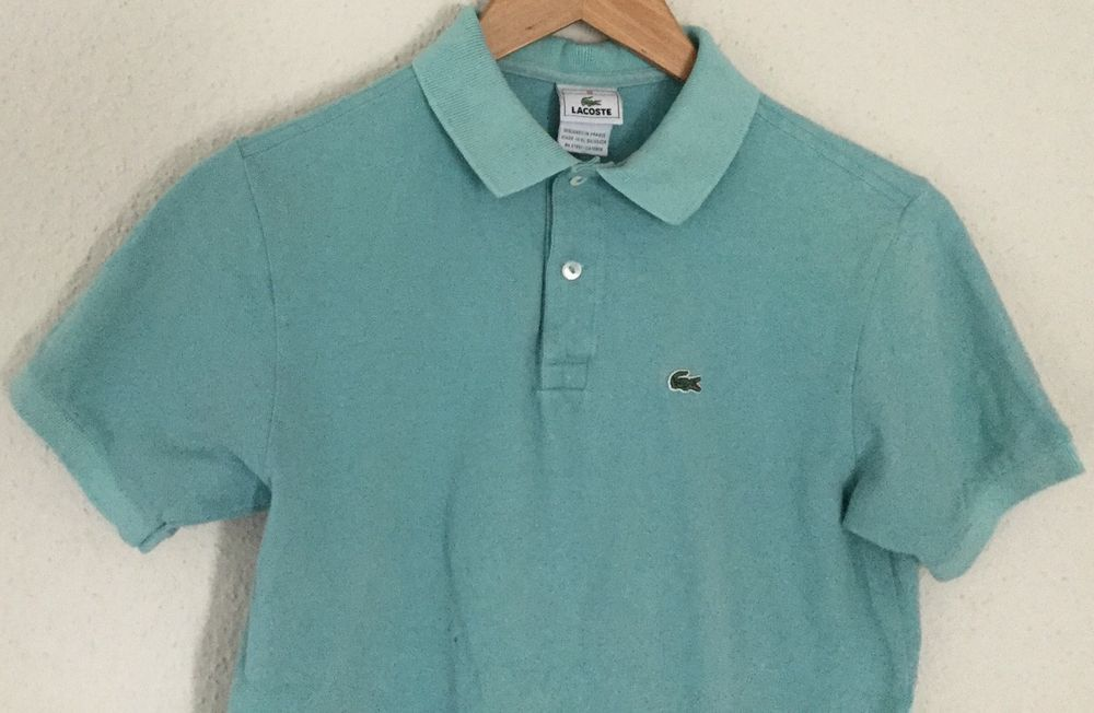 488edb72 Lacoste Girls Youth Light Blue Polo Button up Shirt Cotton Short ...