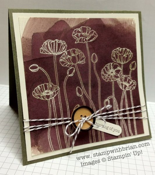 Pleasant Poppies, Teeny Tiny Wishes, Stampin' Up!