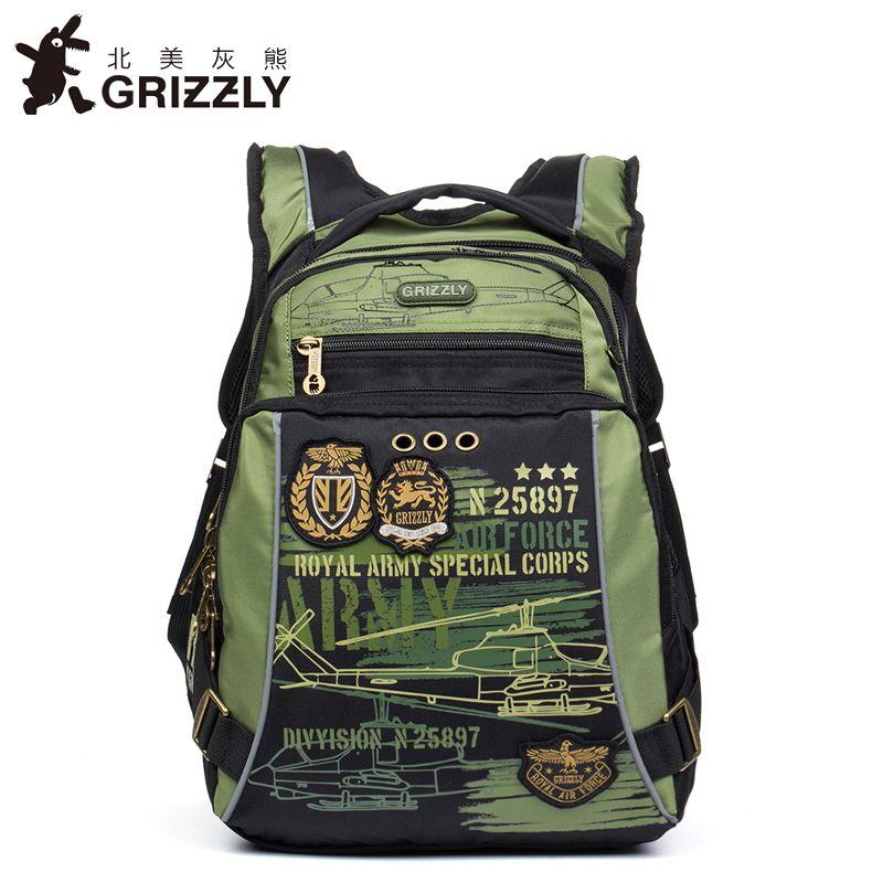 453dda46231c GRIZZLY Kids Cartoon Bags Children Schoolbags for Boys Orthopedic  Waterproof Backpacks Primary School Bags for Grade 1-5