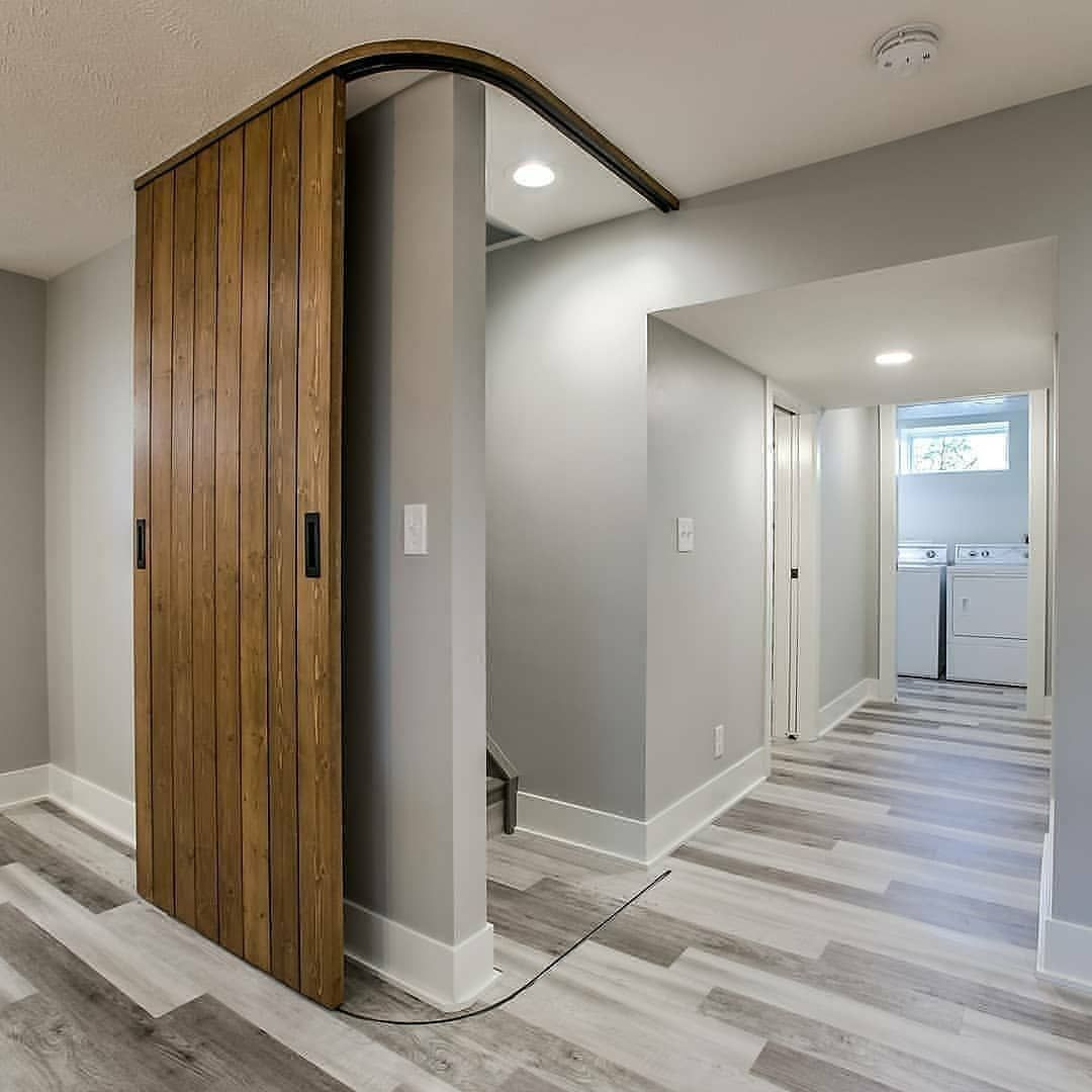 Custom Made Wrapping Barn Door By Russellremodeling Would You Have This At Home D Signersin Follow Door Design Room Divider Doors Innovative Furniture