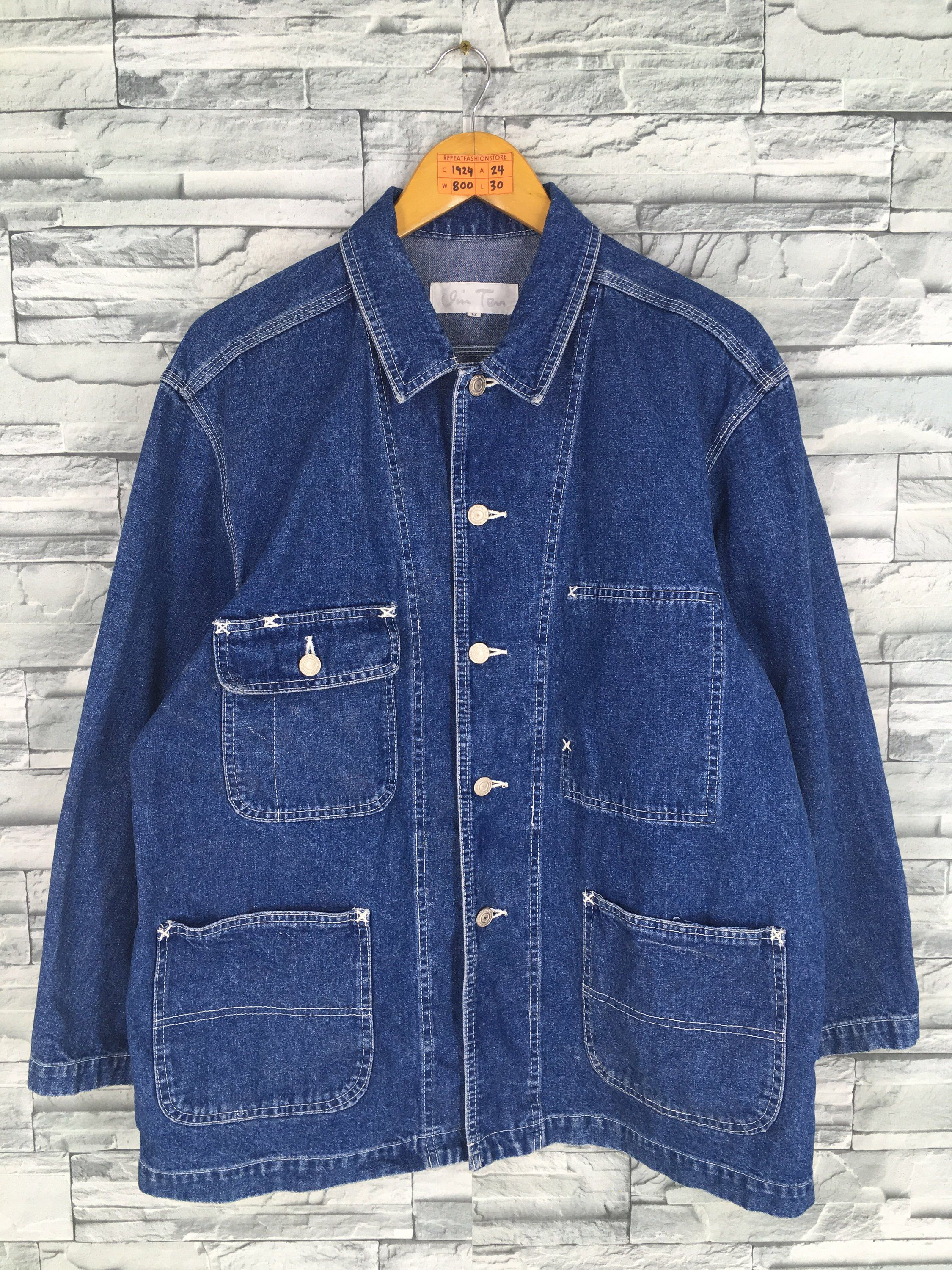 06ecb7e7bac Excited to share this item from my #etsy shop: Vintage 90's Denim Jeans  Jacket