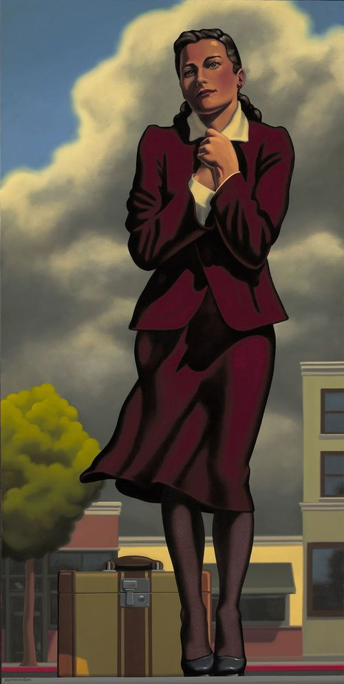 "Kenton Nelson, ""Wind and Winter"", oil on canvas"