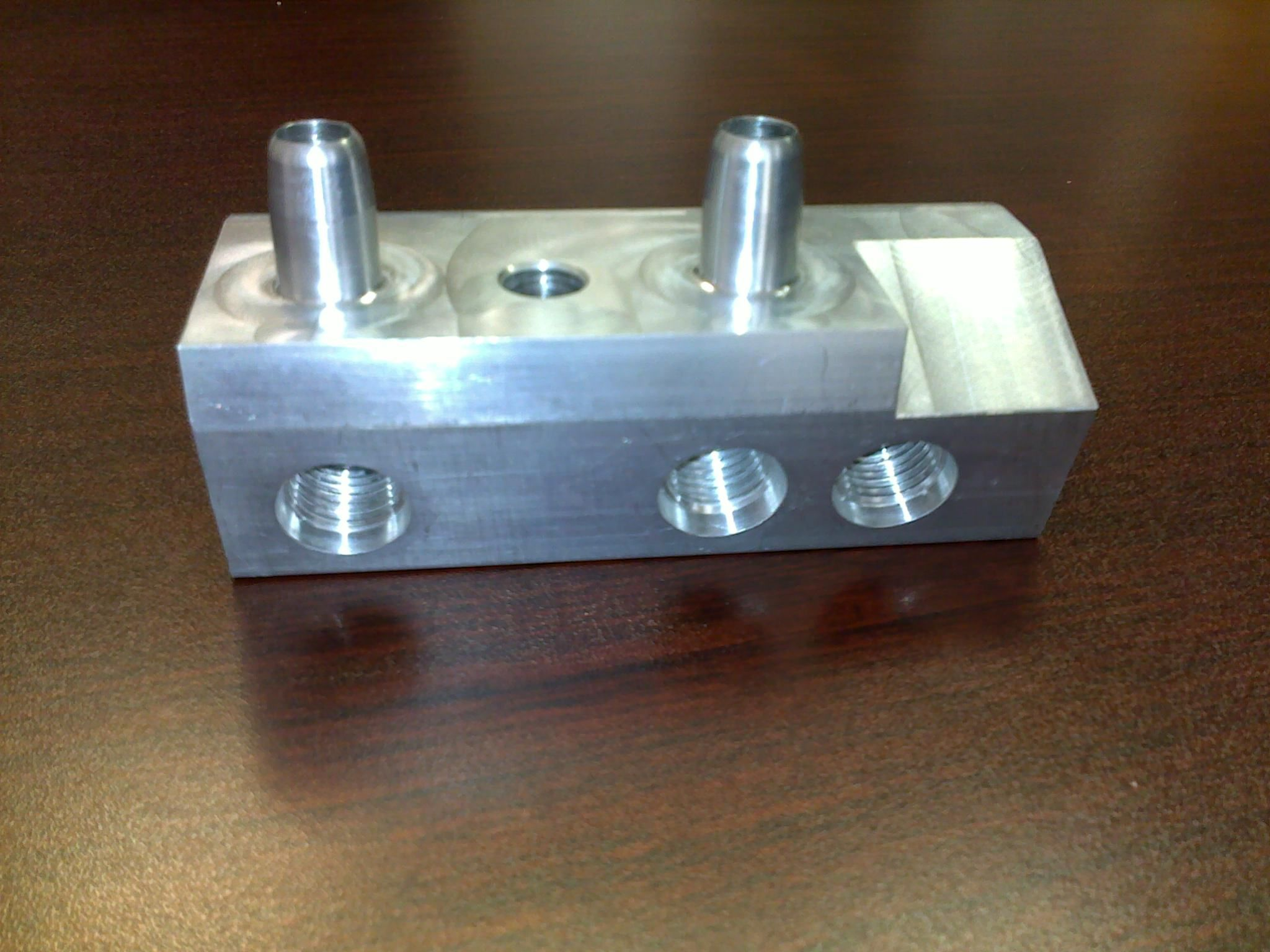 #Extruded and #Machined Block by TFG USA. For more info on our services, please visit http://www.tfgusa.com/