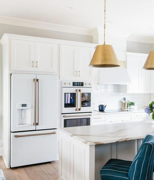 White Kitchen Cabinets Refinishing: GE Appliances Cafe Appliances In Matte-white