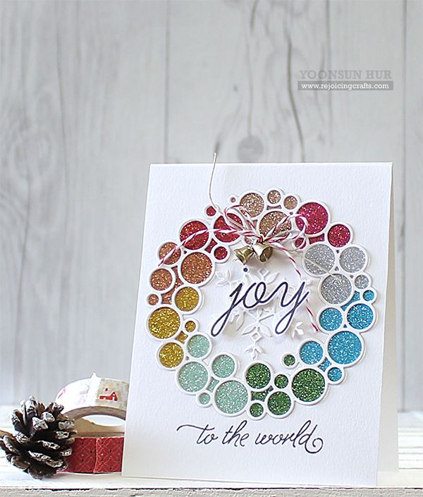 Hello crafty friends, I hope you had a wonderful weekend! Today I want to share with you a couple Christmas cards I've made using SSS Create Joy Ornament Wreath Dies. These brand-new wreath dies ar...
