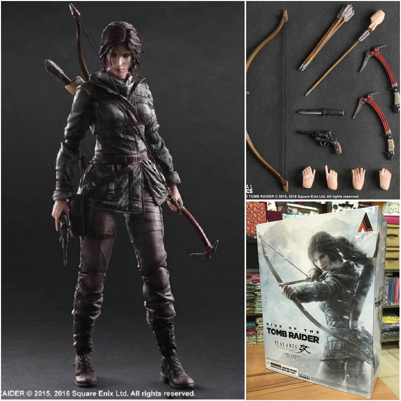 54.06$  Watch here - http://alix62.worldwells.pw/go.php?t=32670682806 - New Play Arts Raider Kai Lara Croft 27cm PVC Action Figure Doll Toys Kids Gift Free Shipping High Quality