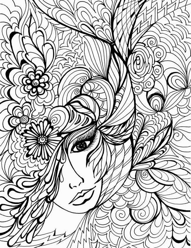 coloriage anti stress fille