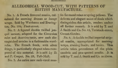 """Patterns of British Manufacture."" April 1810."