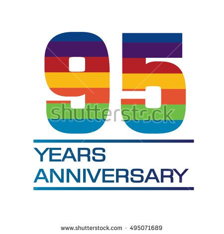 95 years anniversary logo with rainbow color anniversary logo for rh pinterest co uk anniversary logos inspiration anniversary logos inspiration