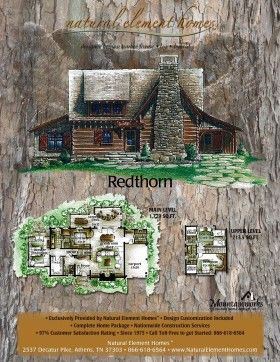 Redthorn Cabin Floorplans Before The Owner Modifications In Pictures By Mountain Works