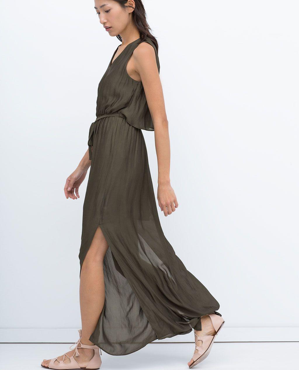 long layer dress maxi dresses woman zara united states. Black Bedroom Furniture Sets. Home Design Ideas