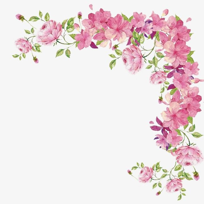 Hand Painted Flower Pink Box Flower Boxes Plant Flower Border Hand Painted Boxes Border Flower Border Flower Border Clipart Flower Painting
