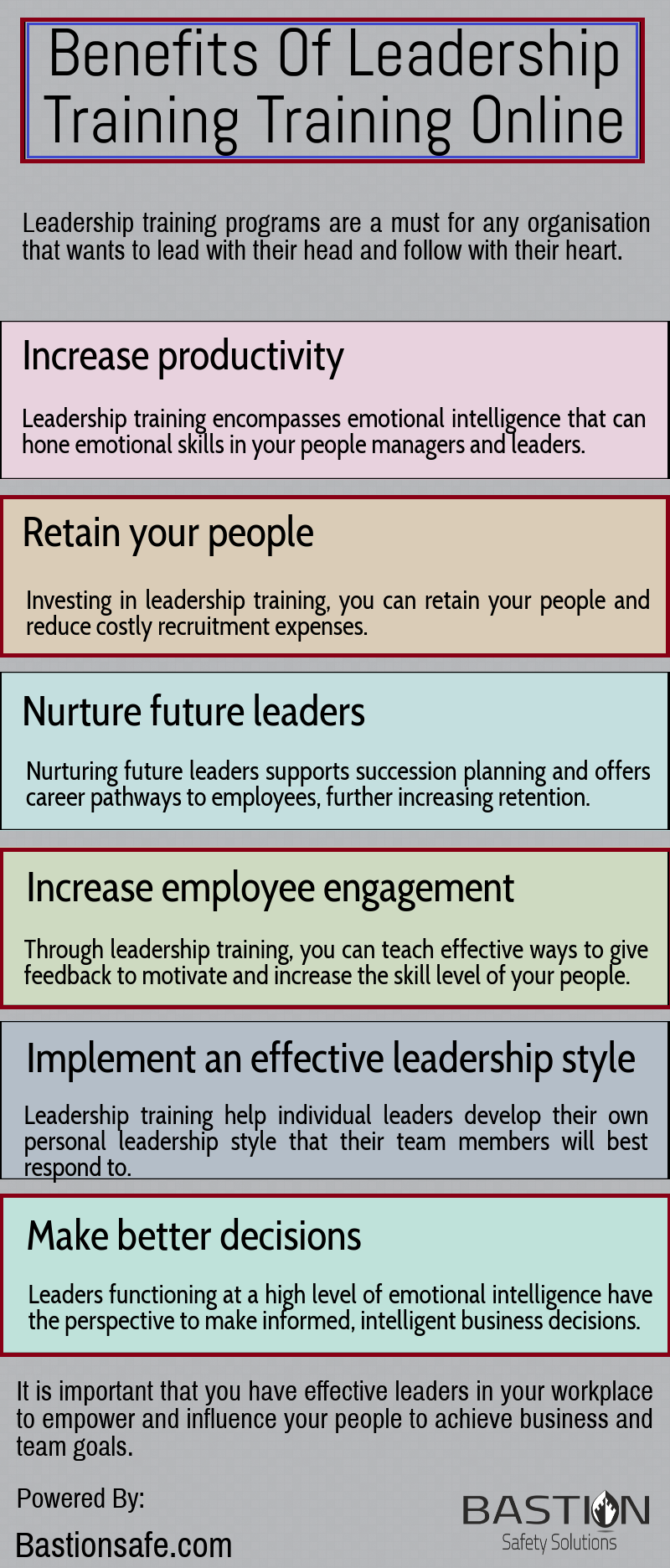 This Infographic Highlights The Benefits Of Leadership Online Training Boost Your Leadership Skills With Bas Leadership Leadership Training Online Training