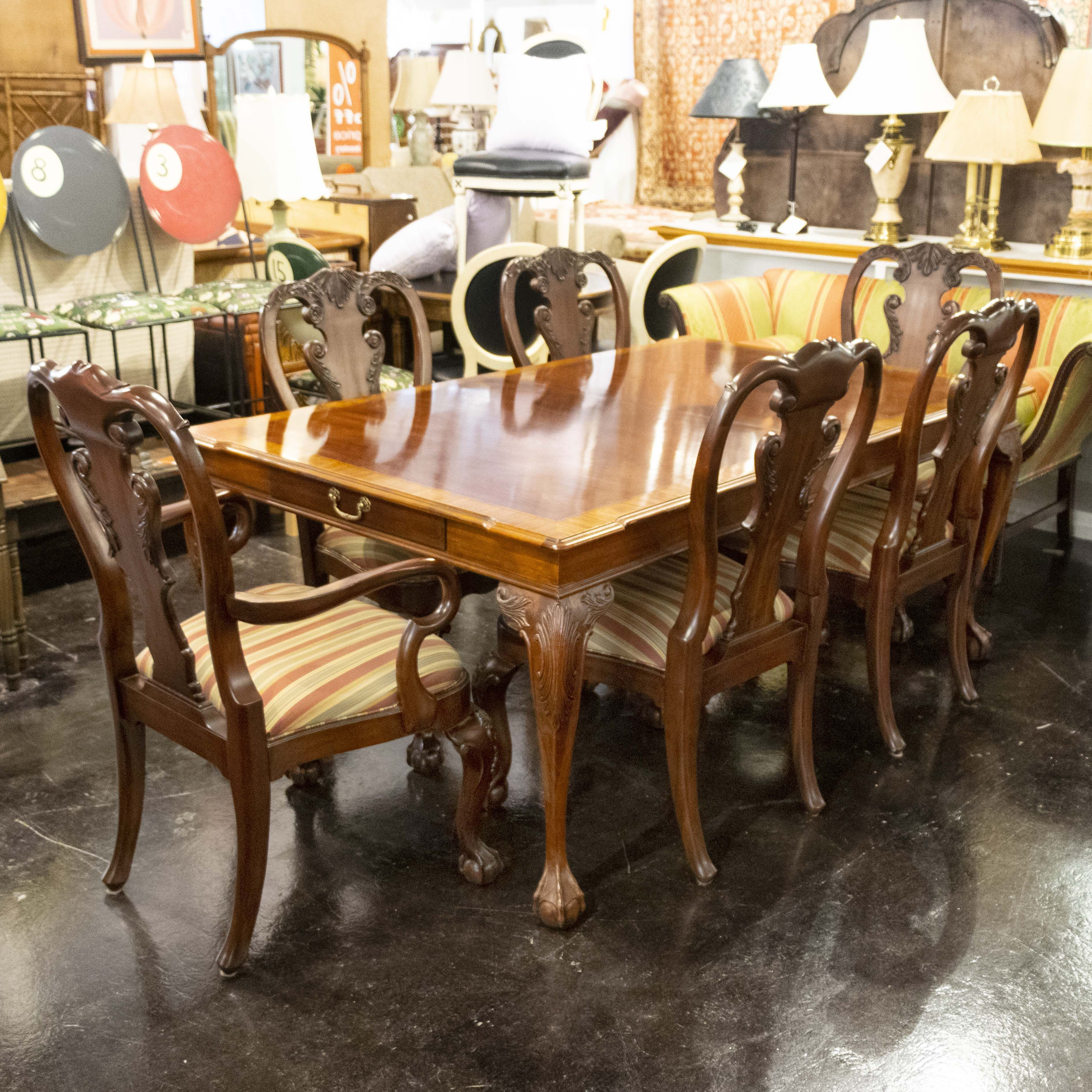 Ethan Allen Presents This Formal Dining Room Set Consisting Of An