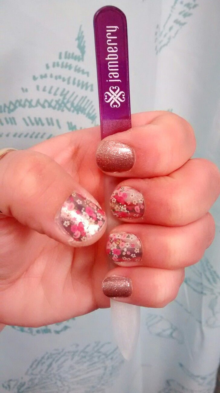 Jamberry - May 2016 Sister Style Floral Fusion accented with Rose ...