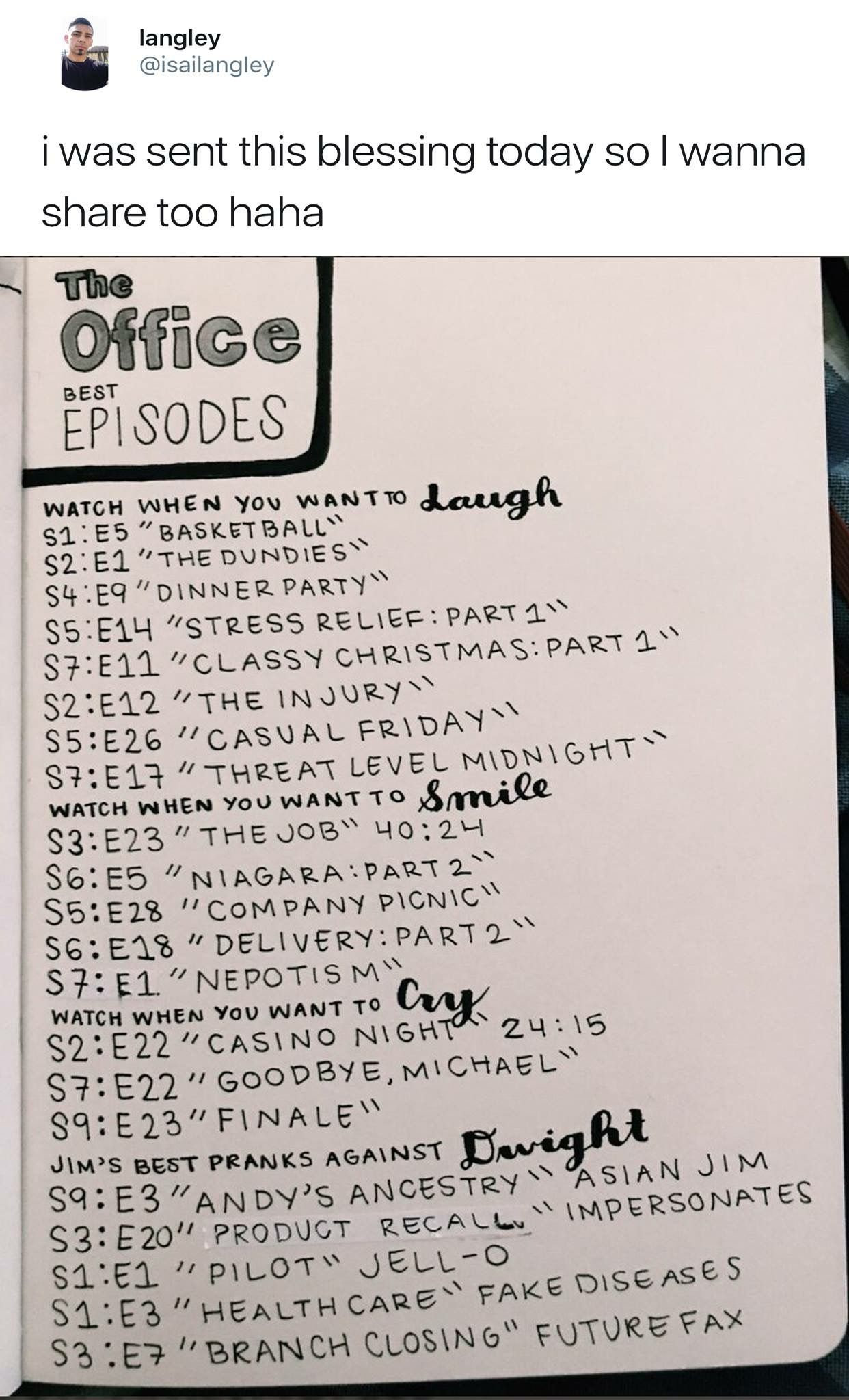 The Office helpful episode index   the office <3   Office memes, The