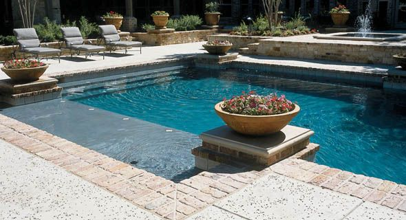 Pool builders dallas frisco plano venture custom pools for Custom swimming pool designs