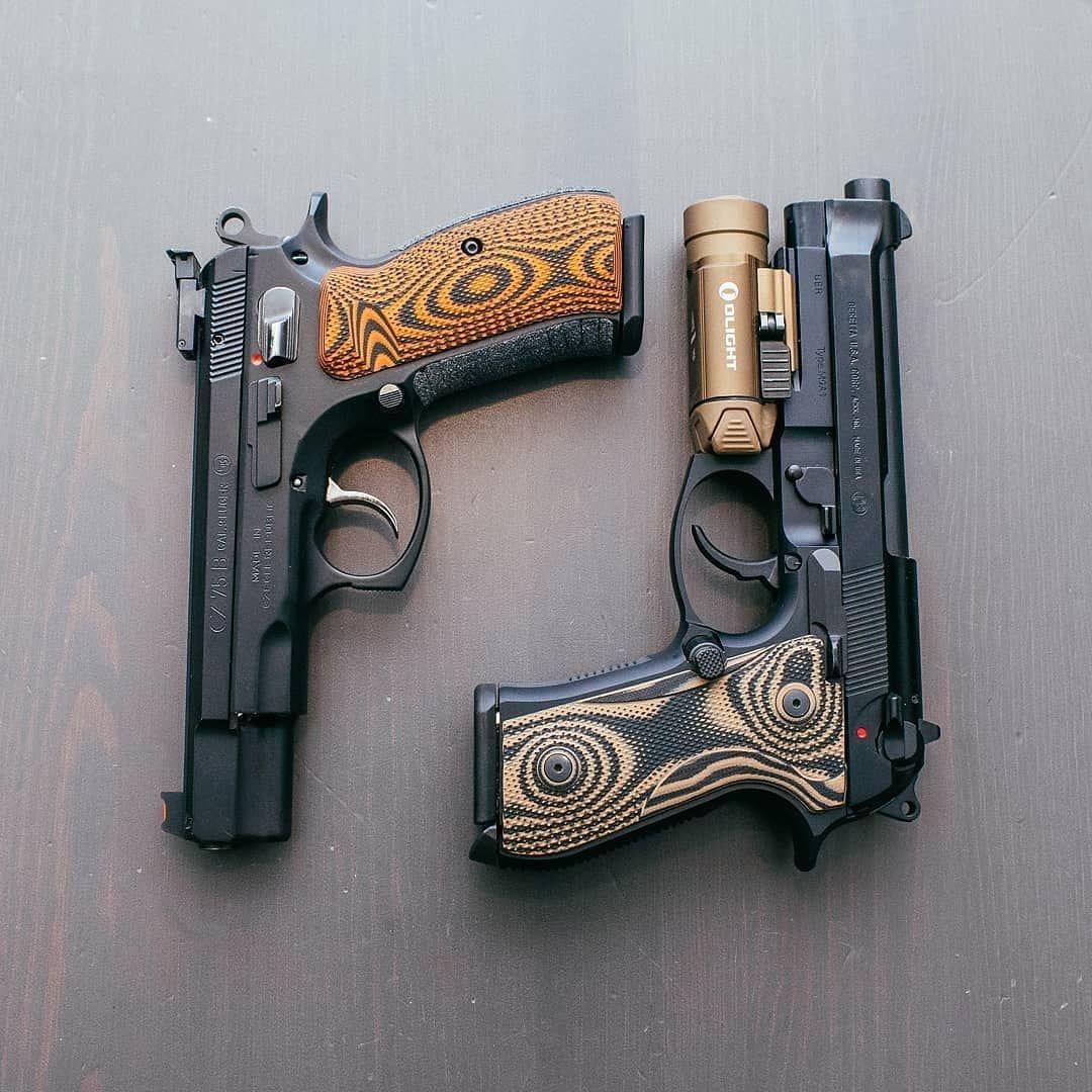 😎 CZ or Beretta? Why not both?! 🤠 💥 CZ 75B: Orange Black Palm