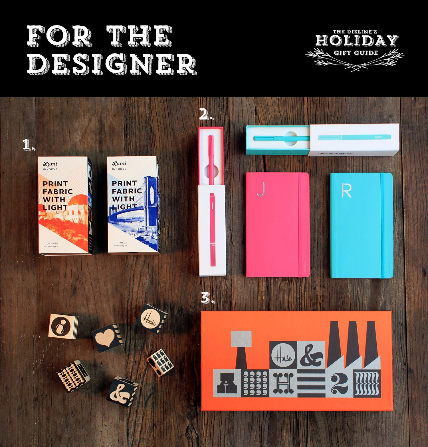Just in time for cyber monday is The Dieline's Holiday Gift Guide- For The Designer.  Click to see more on The Dieline.