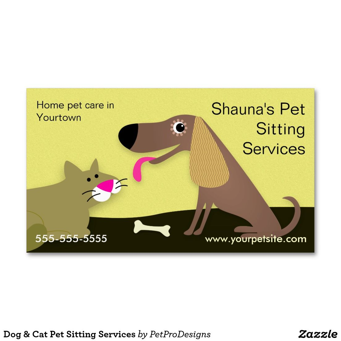 Dog & Cat Pet Sitting Services Standard Business Card | MILES SMILES ...