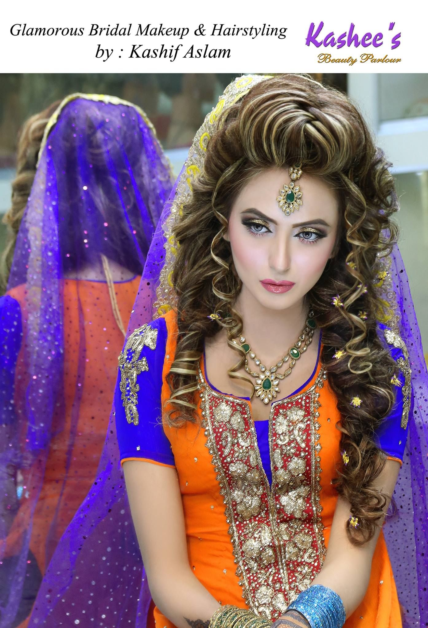 parlour hair style makeup by kashif aslam by kashee s parlour 5657