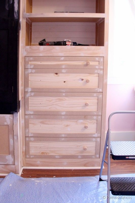 How To Build A Built In Closet, Built Ins From Existing Furniture Upcycle