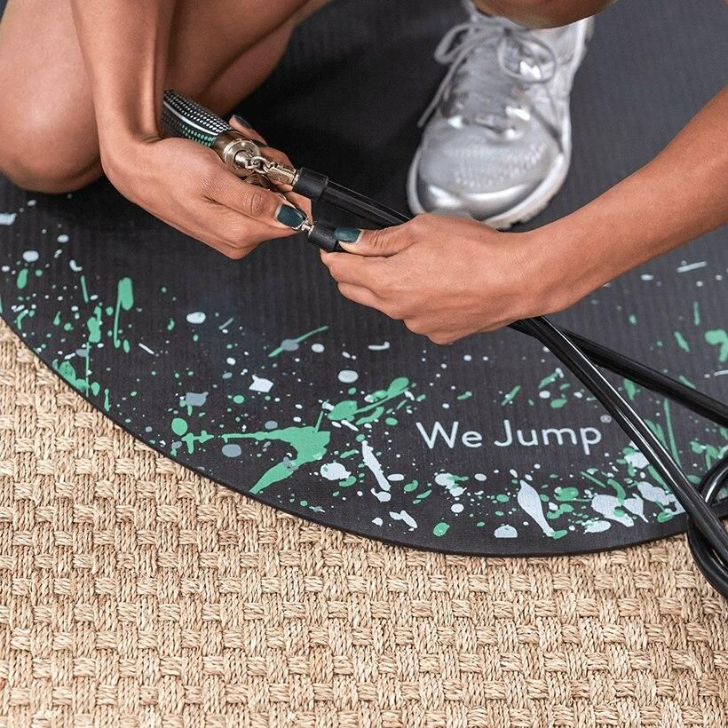 Le Jump Rope Mat Protects Your Ropes Joints Crossrope In 2020 Jump Rope Floor Workouts Workout Apps