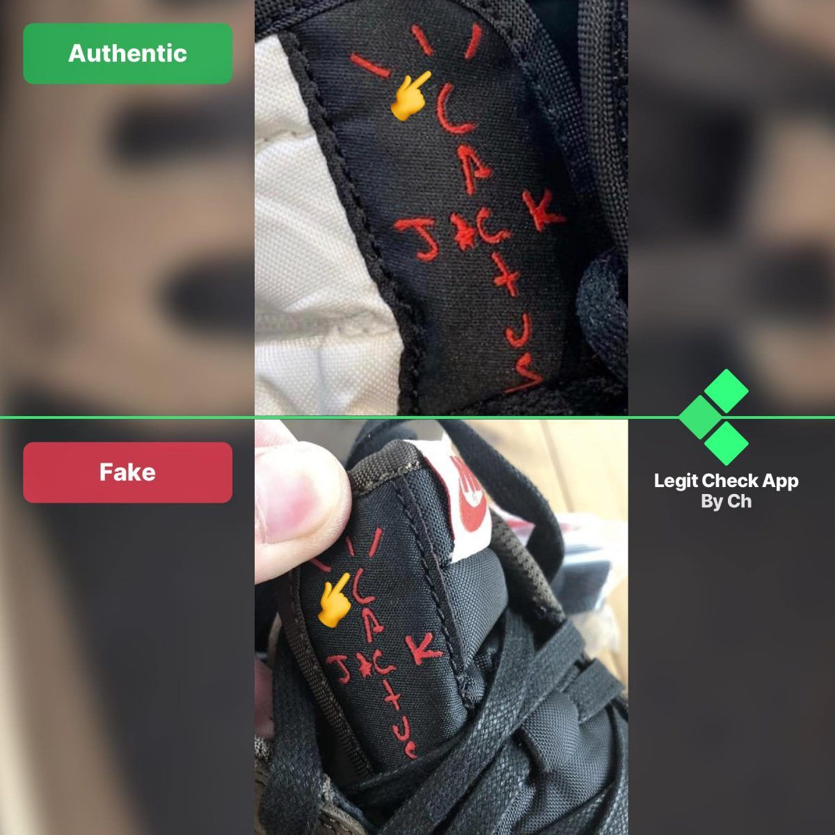 Real Vs Fake Travis Scott Low Top With Images Travis Scott