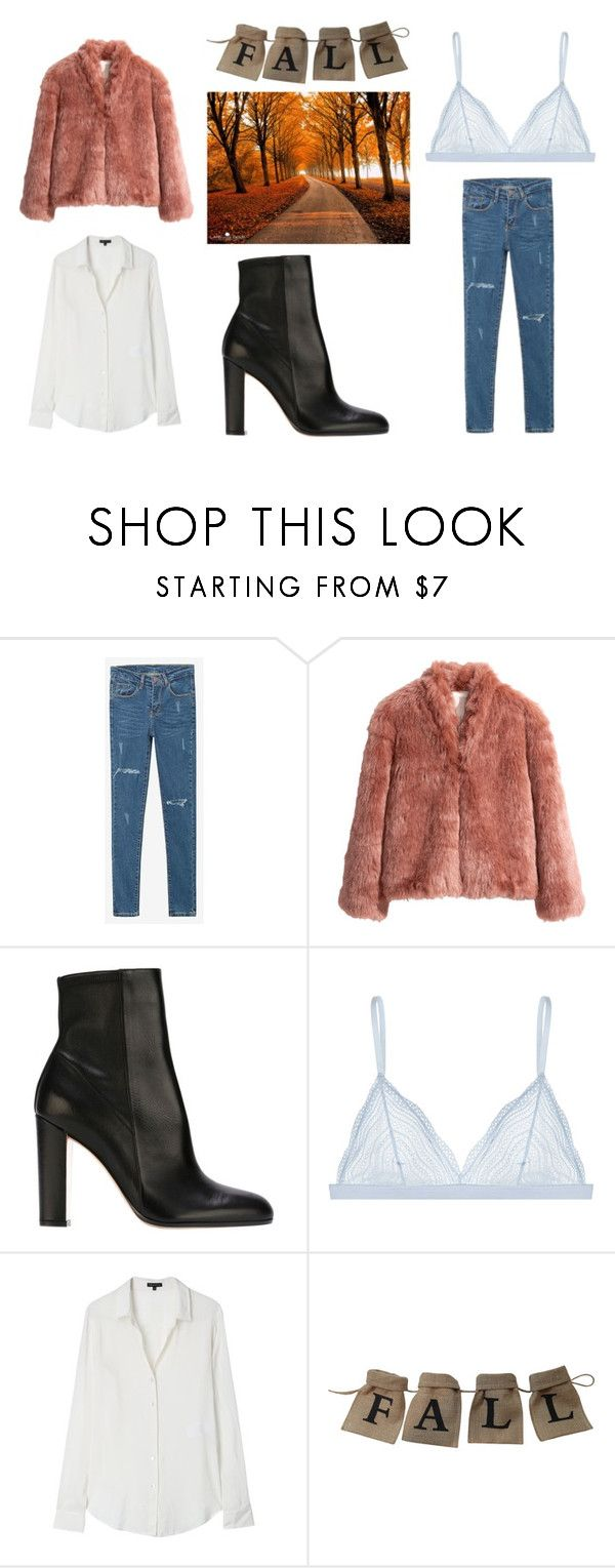 """Fall look 🍂"" by yseultdel ❤ liked on Polyvore featuring WithChic, H&M, Gianvito Rossi, Cosabella and Theory"