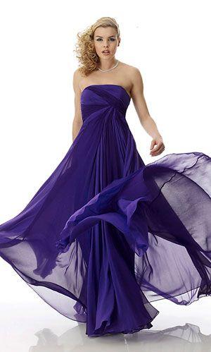 dark purple prom dress