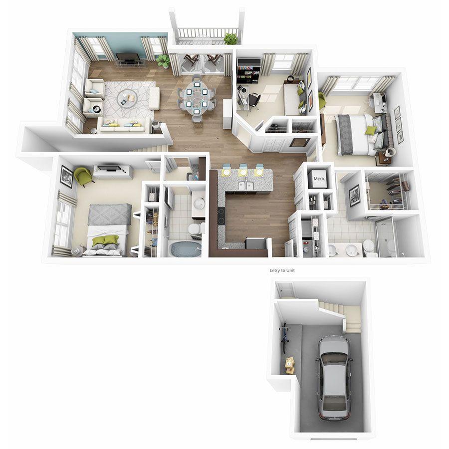 1, 2 U0026 3 Bedroom Apartments In Austin TX | Altis Lakeline Apartments