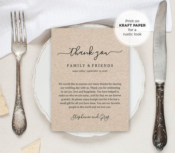 Wedding Thank You Letter Thank You Note Printable Wedding In – Printable Wedding Thank You Cards